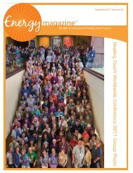 the September issue of Energy Magazine! - Healing Touch Program