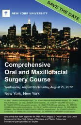 Comprehensive Oral and Maxillofacial Surgery Course - American ...