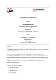 Kooperationsvertrag - Gesamtschule Eiserfeld
