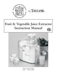 Fruit & Vegetable Juice Extractor Instruction Manual - Taylor ...