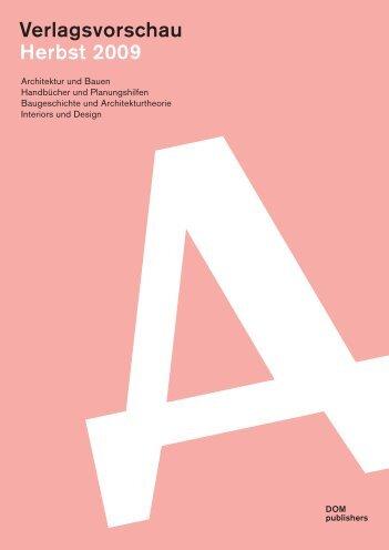 Verlagsvorschau Herbst 2009 - Meuser Architekten