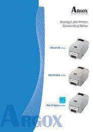 Desktop Label Printer Outstanding Series Features ... - arktech