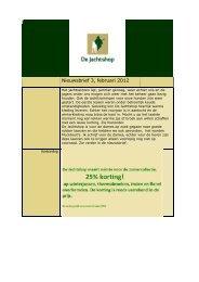 Nieuwsbrief 3, februari 2012