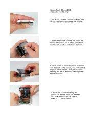 Achterkant iPhone 3GS Installatie handleiding 1.Verwijder de twee ...
