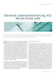 Generali Lebensversicherung AG: Rente Fonds  safe - ITA