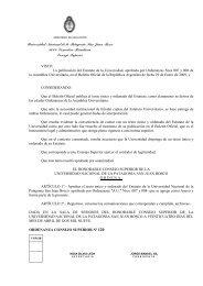 Estatuto - Infoweb2.unp.edu.ar - Universidad Nacional de la ...