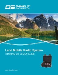 Land Mobile Radio System Training and Design Guide - Daniels ...