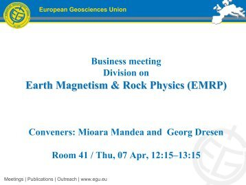 EMRP - European Geosciences Union