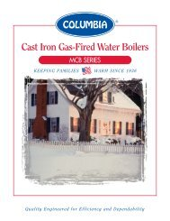 Cast Iron Gas-Fired Water Boilers - Columbia Heating