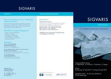punkten anerkannt SIGVARIS Knowledge