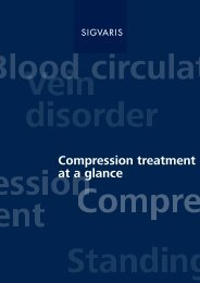 Compression treatment at a glance - SIGVARIS EXPORT