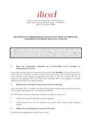 Descriptif du programme de rachat d'actions - Iliad