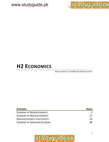 H2 ECONOMICS - StudyGuide.PK