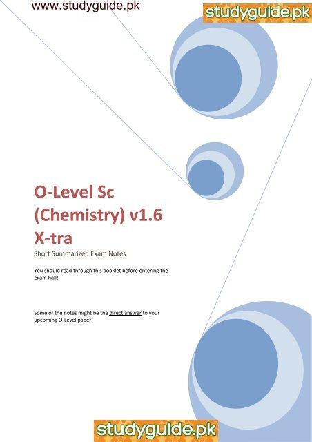 O-Level Sc (Chemistry) v1 6 X-tra - StudyGuide PK