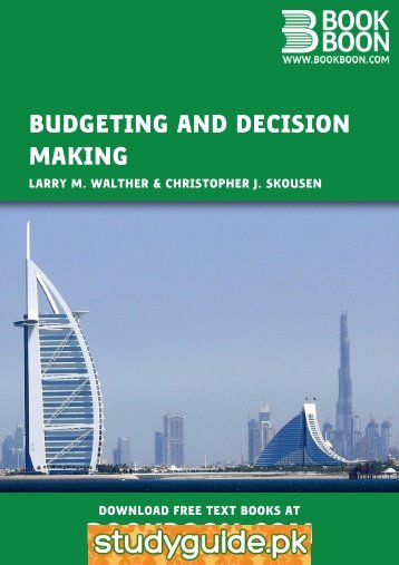 Budgeting and Decision Making - StudyGuide.PK