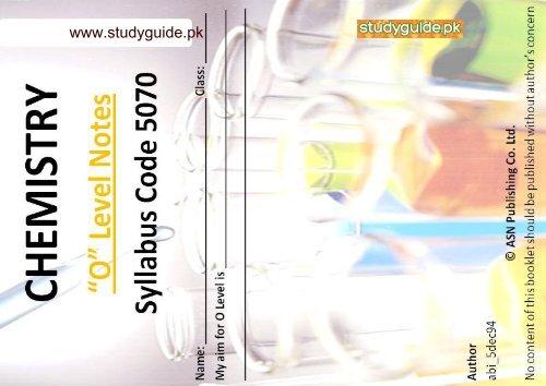 O-Level-Chemistry-Notes - StudyGuide PK