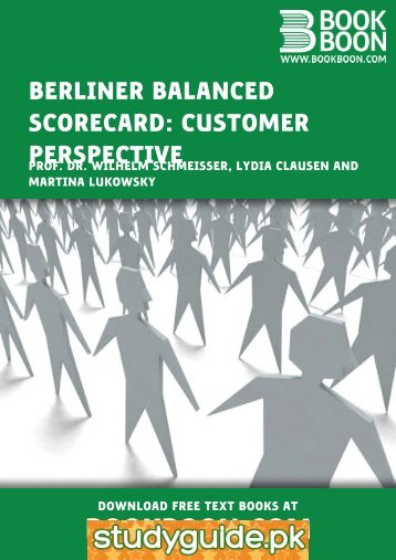 Berliner Balanced Scorecard: Customer Perspective