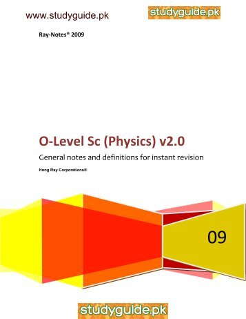 KIPS 9th Class Physics Notes Of All Chapters (Federal ...