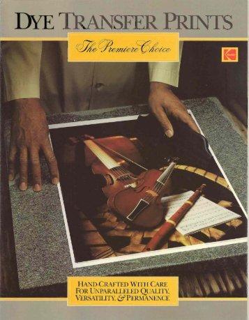 Kodak Dye Transfer Advertisement - David Doubley