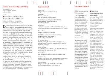 Zwischen Kruzifix und Minarett - Europäisches Institut für ...