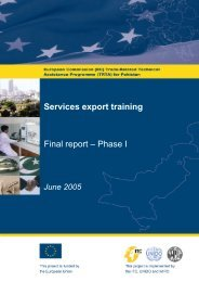Services export training Final report – Phase I - TRTA i