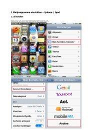 1 Mailprogramme einrichten – Iphone / Ipad