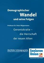 die Herrschaft der neuen Alten - Senioren-Union NRW
