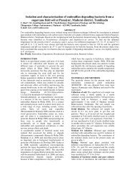 Isolation and characterization of endosulfan degrading ... - TeJAS