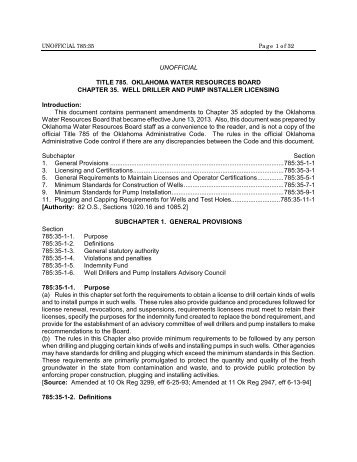 Well Driller and Pump Installer Licensing - Water Resources Board ...