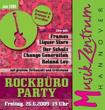 ROCKBÜRO PARTY - Musikzentrum Hannover