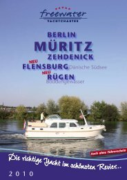 MÜRITZ - freewater Yachtcharter