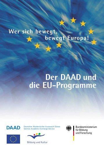 Der DAAD und die EU-Programme - Auslandsstudium mit Kind