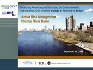 Active Risk Management for the Charles River Basin ABP