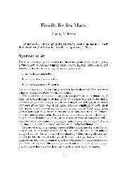 ossilt liv ra ars Anja C. Andersen En meteorit, der stammer fra Mars ...