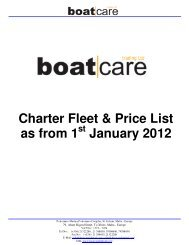 Charter Fleet & Price List as from 1 January 2012 - Worldnautic.com