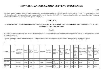 odluku - Hrvatski zavod za zdravstveno osiguranje