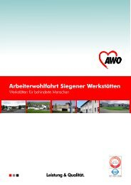 Siegener Werkstätten - AWO Kreisverband Siegen-Wittgenstein/Olpe