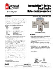 InnovairFlex™ Series Duct Smoke Detector ... - Gamewell-FCI