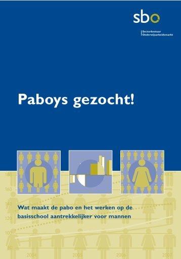 Paboys gezocht! - sbo Sectorbestuur Onderwijsarbeidsmarkt