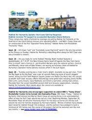 Habitat for Humanity Update: Hurricane Katrina Response Habitat ...