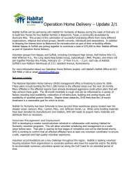 Operation Home Delivery – Update 2/1 - Habitat for Humanity of ...
