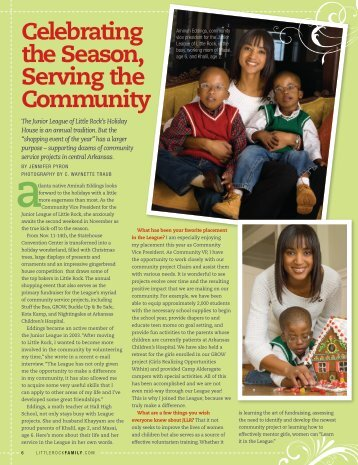 Celebrating the Season, Serving the Community - Junior League of ...