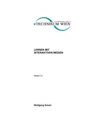 Lernen mit interaktiven Medien - Wolfgang Scharl