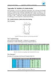 Appendiks M: Stabilitet af cylinderskaller - Aalborg Universitet