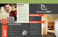 Quality Glass Block Vent Brochure - Innovate Building Solutions