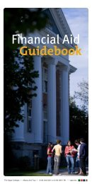 Financial Aid Guidebook - The Sage Colleges