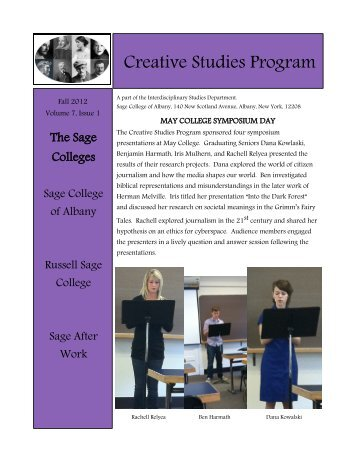 Fall 2012, Issue 1 - The Sage Colleges