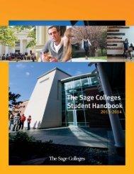 Student Handbook PDF - The Sage Colleges
