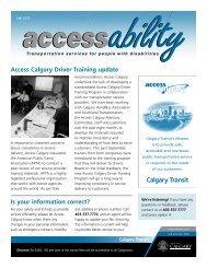 Fall 2012 - Calgary Transit