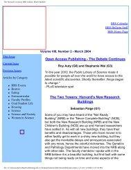 March 2004 - Division of Medical Sciences Bulletin - Harvard ...